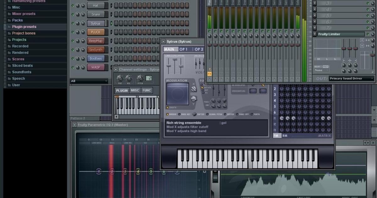 FL Studio 11 скачать бесплатно - FL Studio 11 новая версия без. бронхорил и