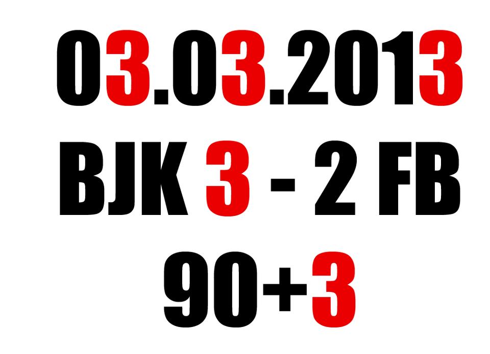 3 mart 2013 beşiktaş fenerbahçe maçı