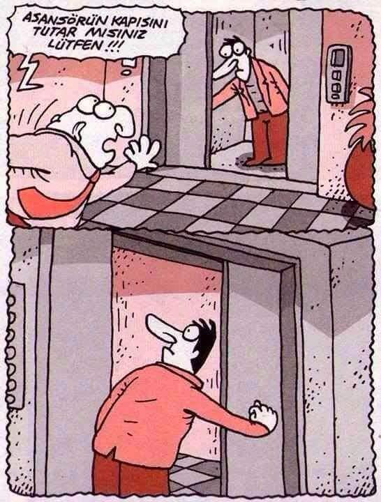 asansörde yalnızken yapılanlar