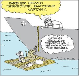 batan gemiyi önce fareler terk eder