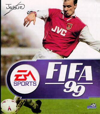 Лица : Деннис Бергкамп в майке Арсенала (междунароная обложка).
