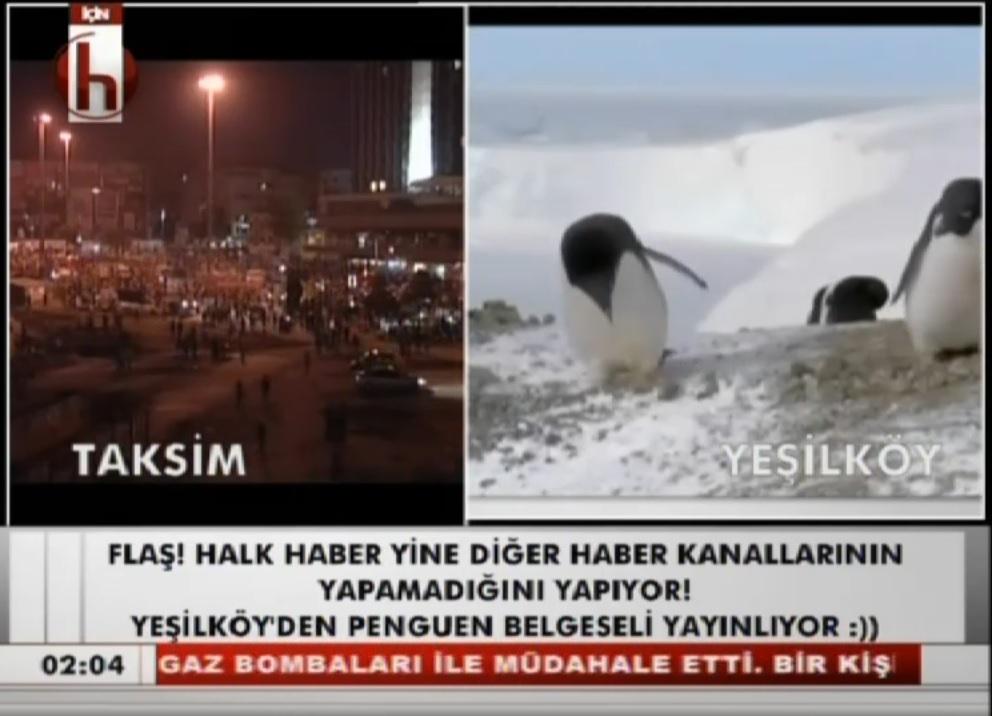 halk tv nin penguen belgeseli yayınlaması