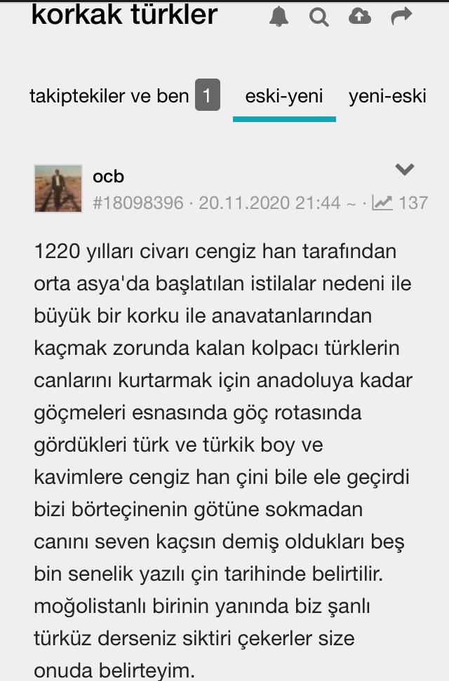 korkak türkler
