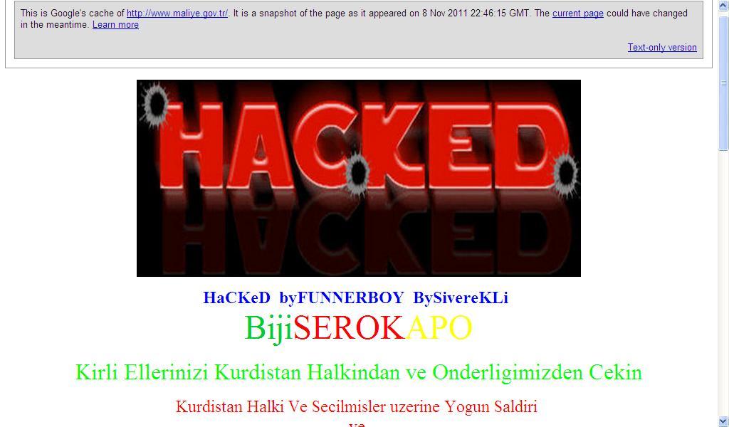 Maliye gov tr nin hacklenmesi için ne dediler önceki sonraki