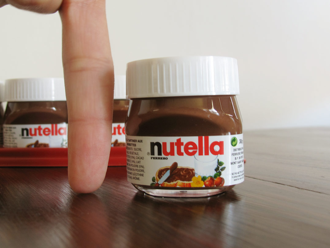 It is a picture of Lucrative Mini Nutella Label Template