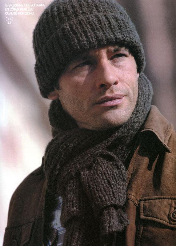 Вязание мужских спортивных шапок