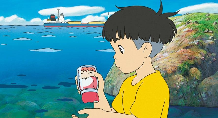 Ponyo sur la falaise par Hayao Miyazaki