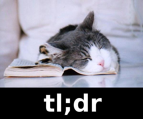 tl dr