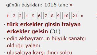 türk erkekler gitsin italyan erkekler gelsin