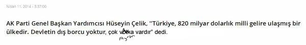 türkiye nin dış borcu yoktur