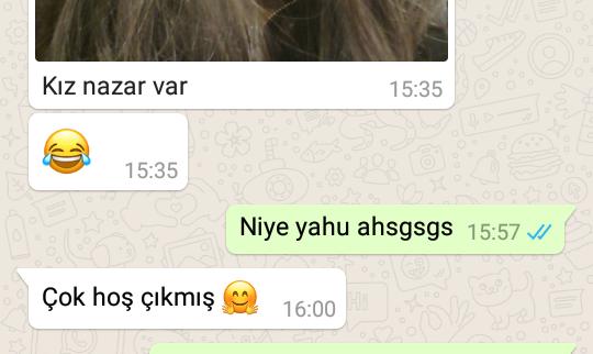 yazarlara whatsapp dan gelen son mesaj